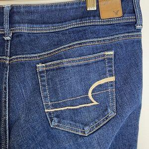 American Eagle stretch Slim boot dark wash jean 14
